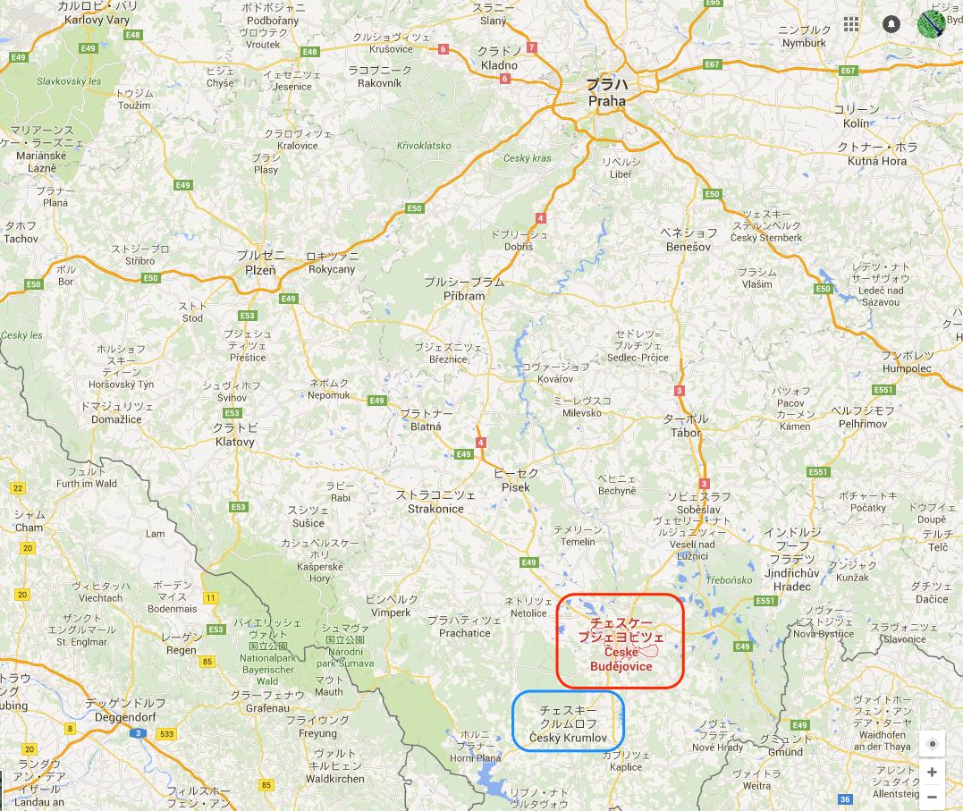 チェスケー・ブジェヨビツェ_-_Google_マップ